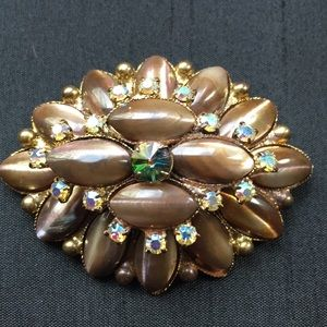 Vintage Victorian Gripoix Style Brooch